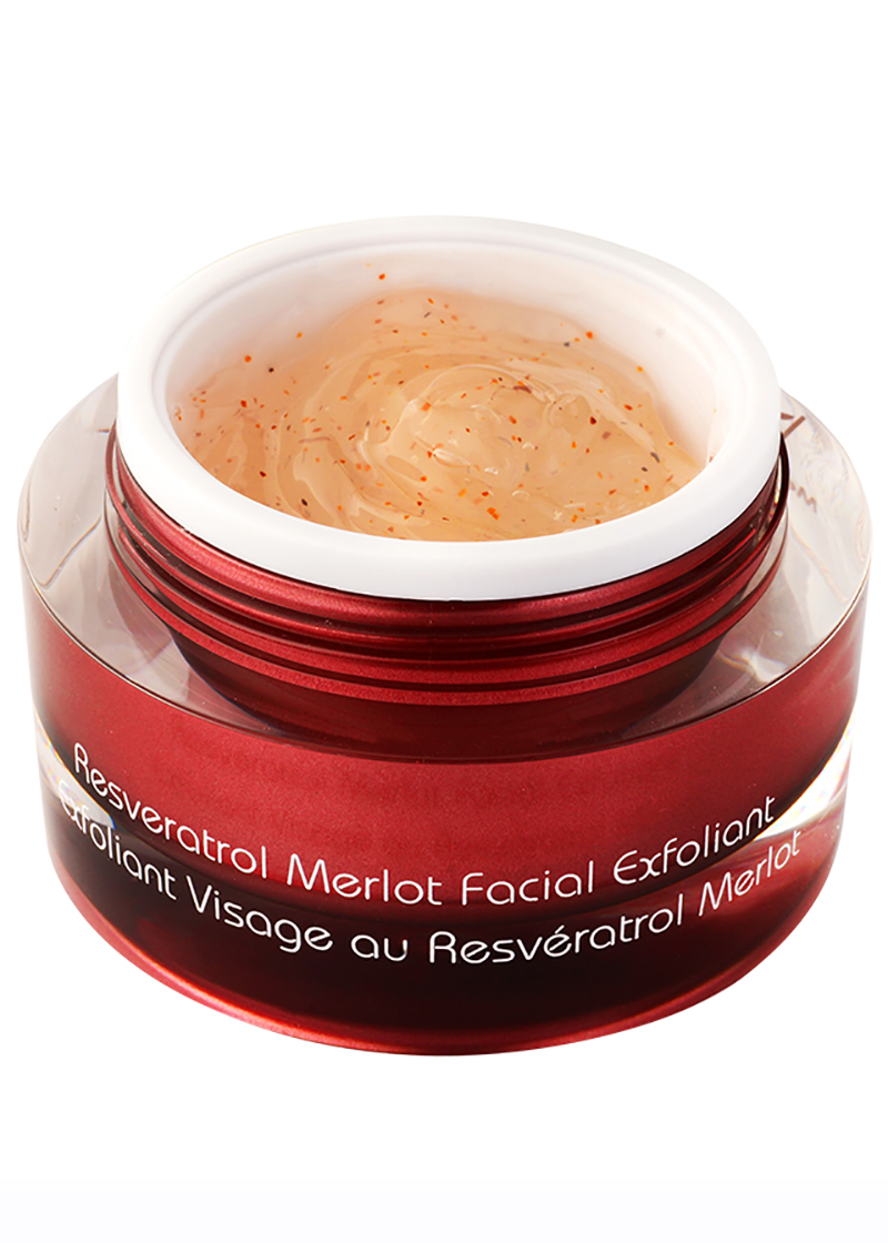 Resveratrol Merlot Facial Exfolian without its lid