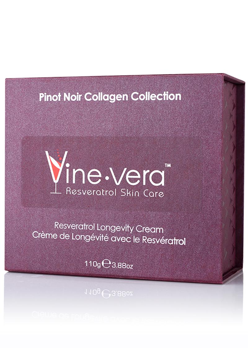Resveratrol Pinot Noir Longevity Cream in its case
