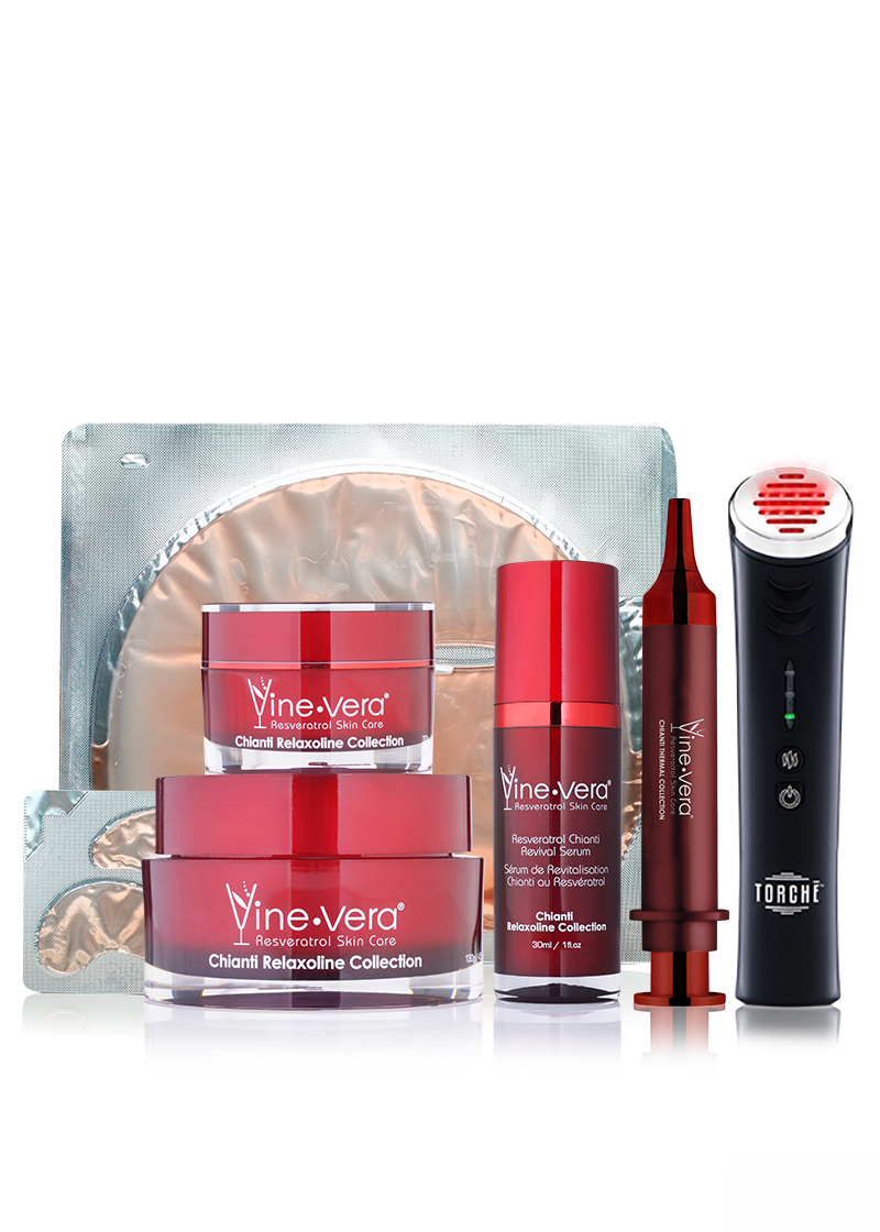 Chianti Collection + Resveratrol Cabernet Rejuvenating Mask + Jelessi Torche V2+